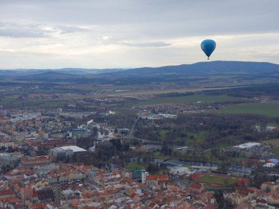 Let balónem v Českých Budějovicích