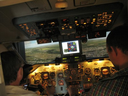 Pohyblivý trenažér letadla