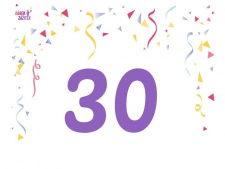 Dárek k 30 narozeninám