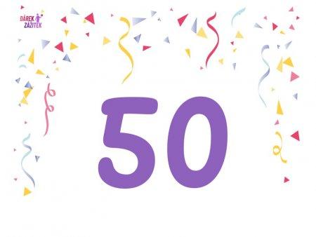 Dárek k 50 narozeninám