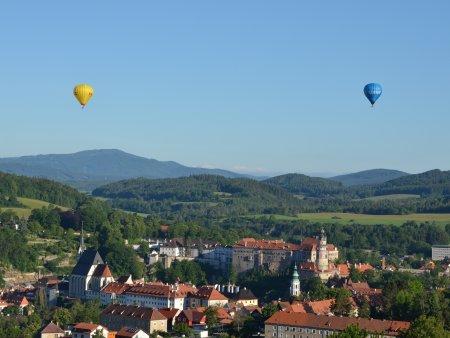 Let balónem v Českém Krumlově